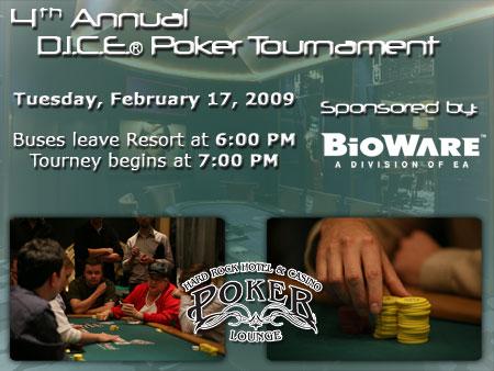 4th Annual Dice Poker Tournament