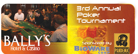 3rd Annual Poker Tournament